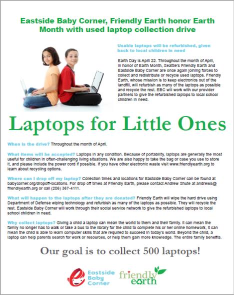 Laptops For Little Ones Flyer